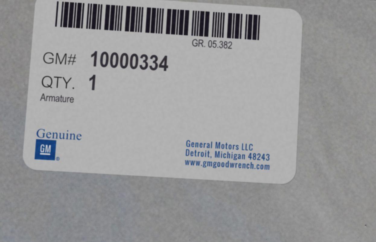 10000334, Armature GM part