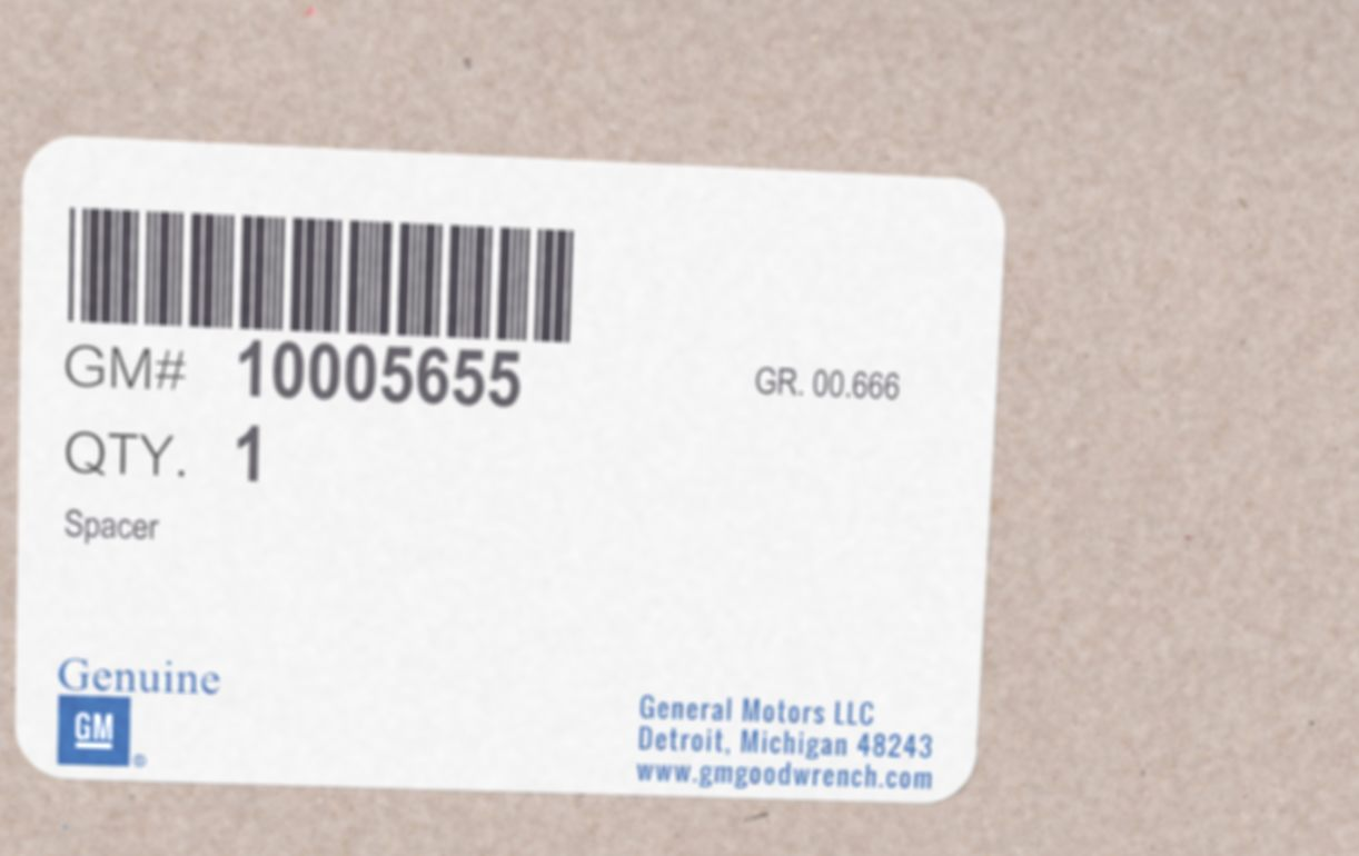 10005655, Spacer GM part