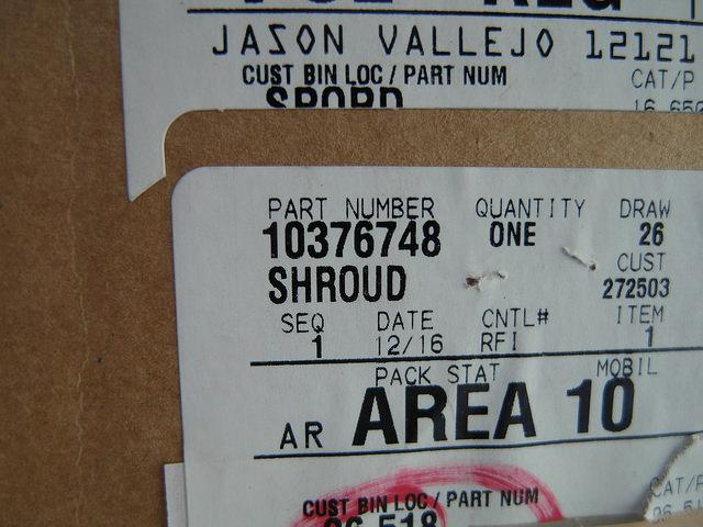 10376748, Shroud GM part