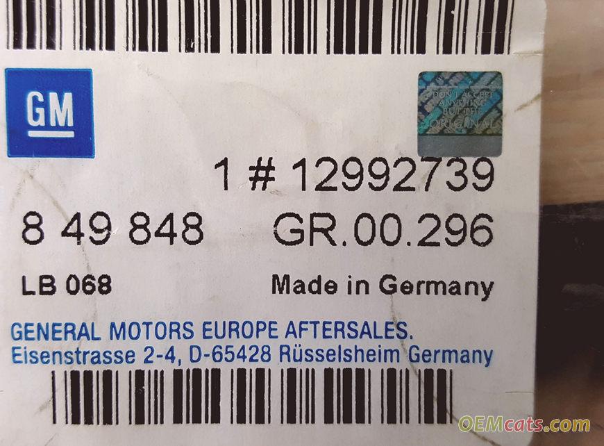 12992739, Gasket GM part