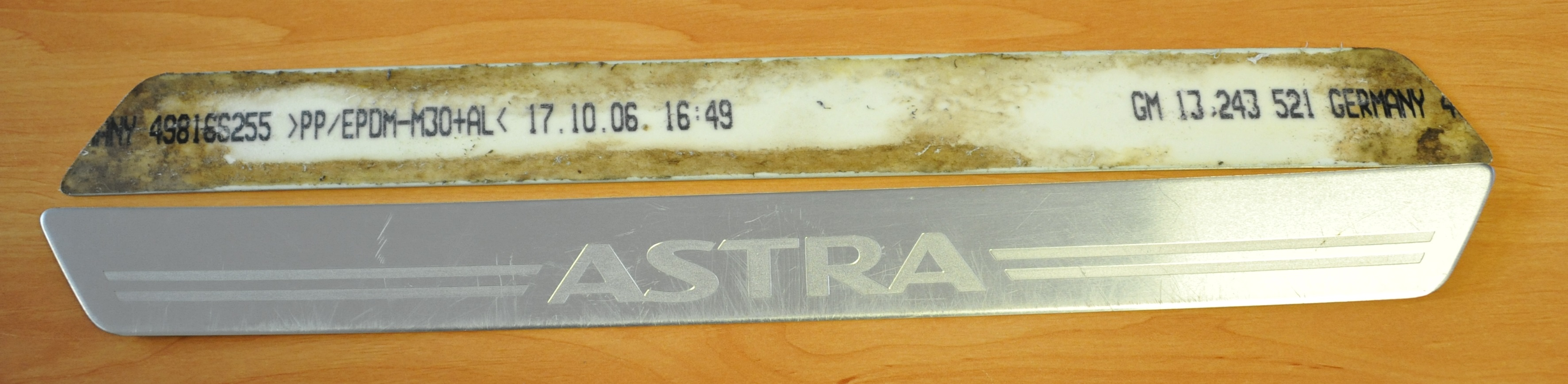 13243521, Nameplate, astra GM part