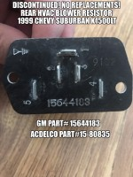 GM genuine OEM part 15644183 Resistor