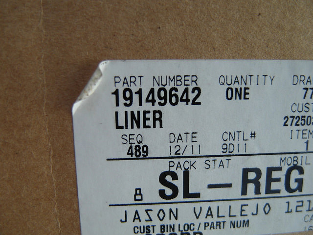 19149642, Liner GM part
