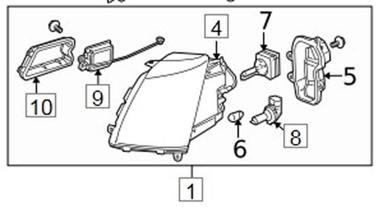 20836119, Headlamp GM part