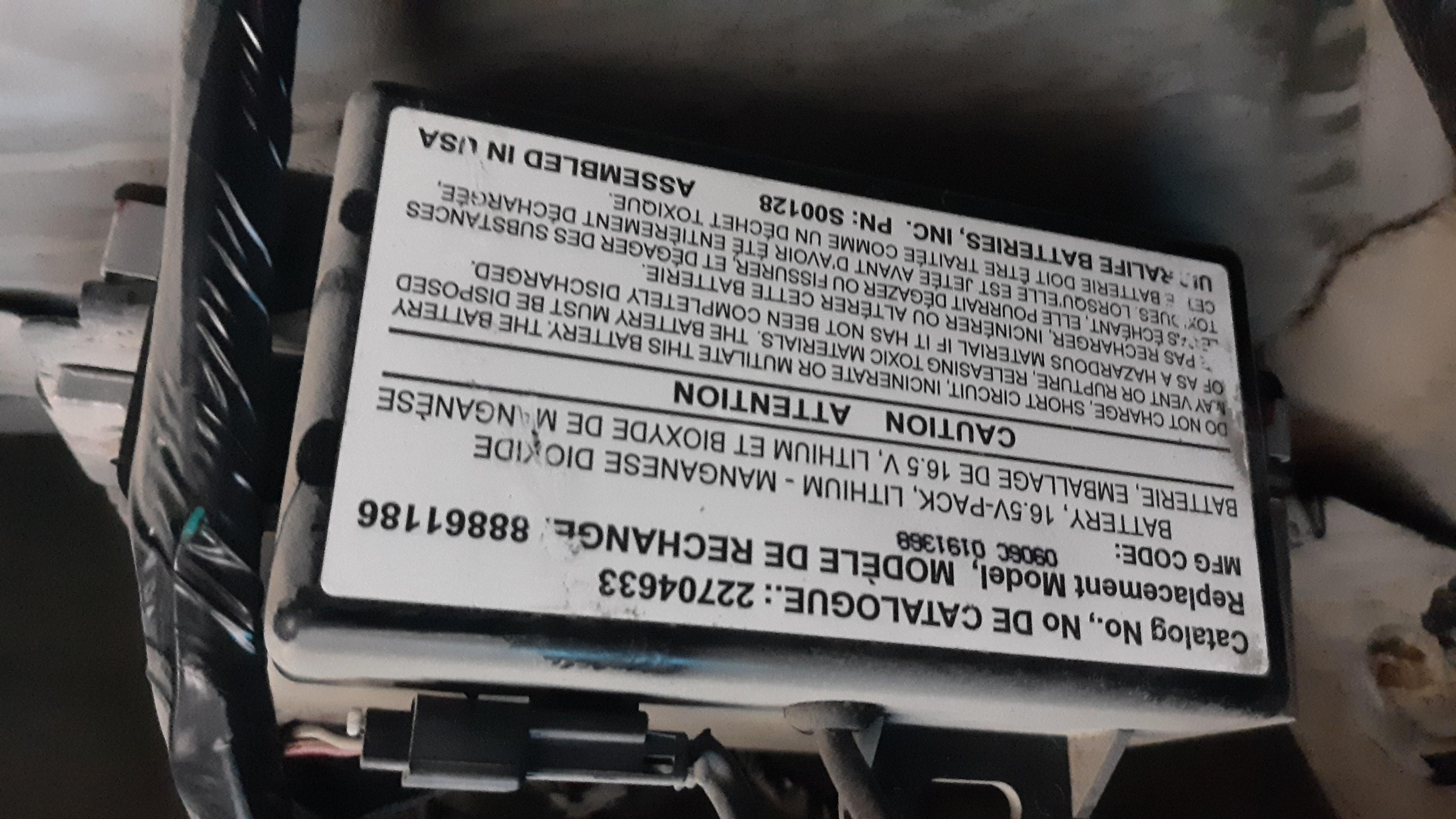 22704633, Battery GM part