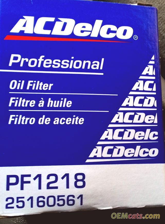 25160561, Filter GM part