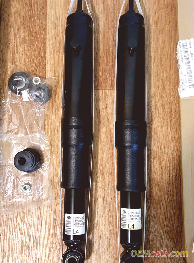 72119085, Shock absorber, assembly, with mounting parts GM part