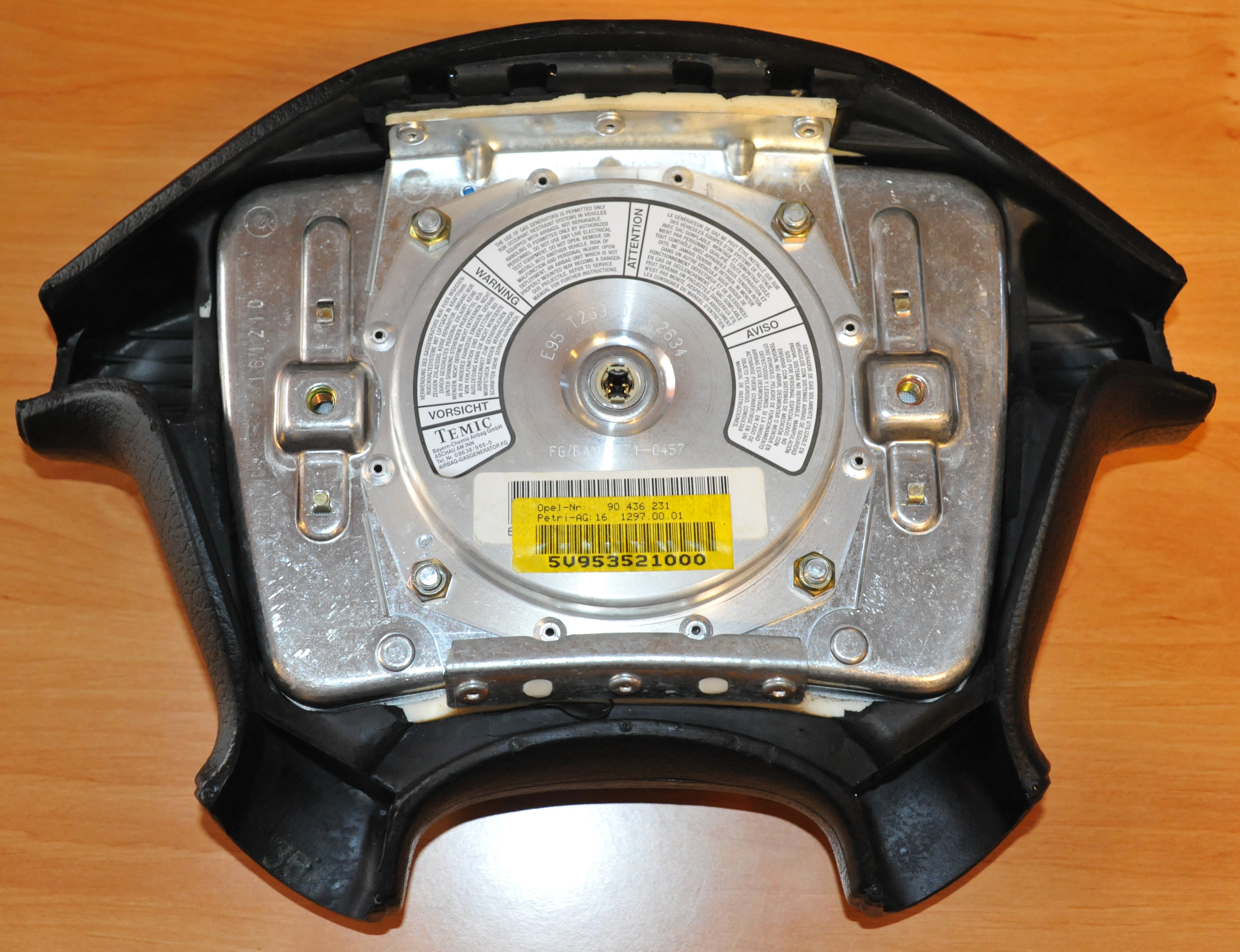 90436231, Air bag assembly, driver side GM part
