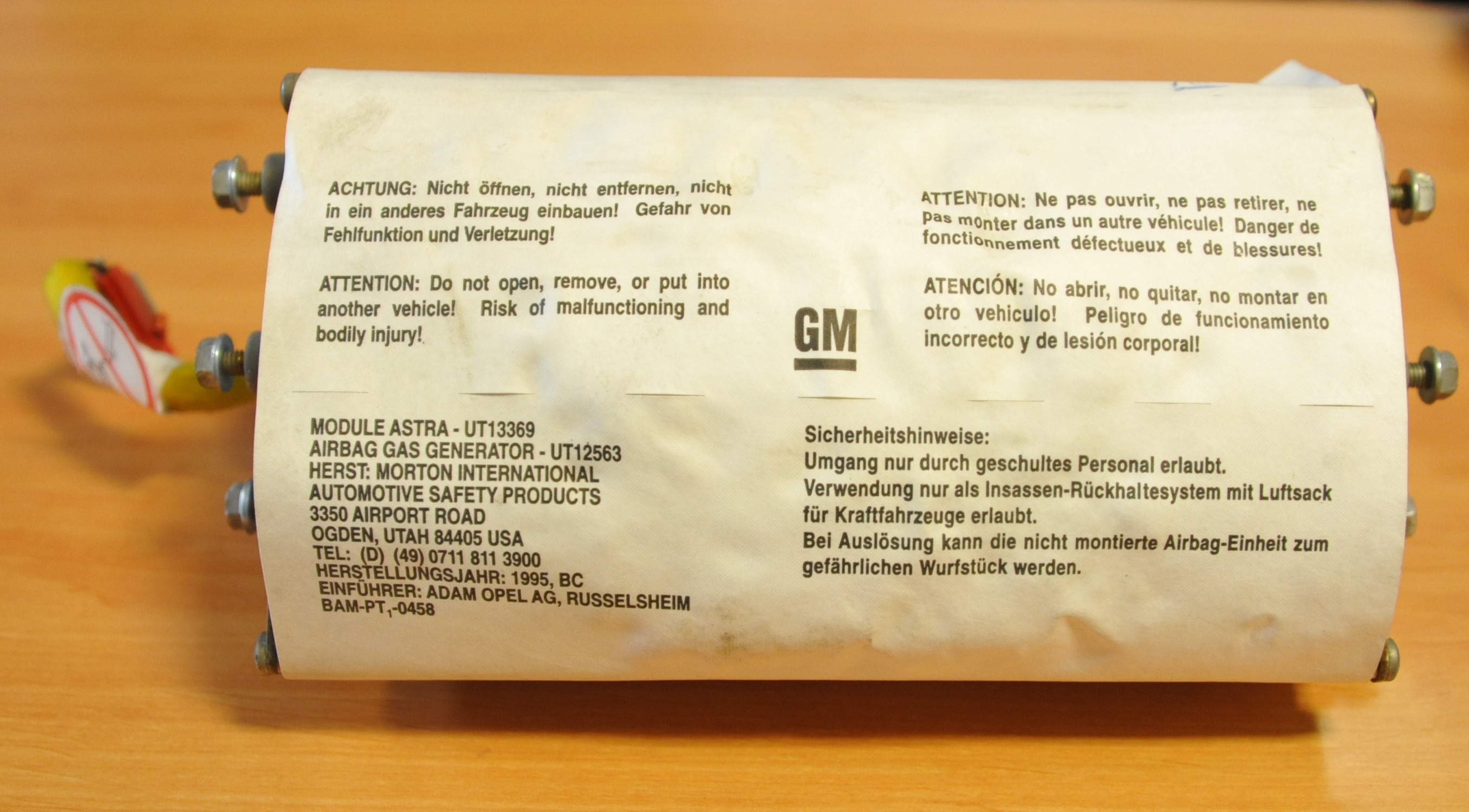 90460210, Air bag assembly GM part