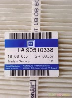 90510338 Filter, interior ventilation
