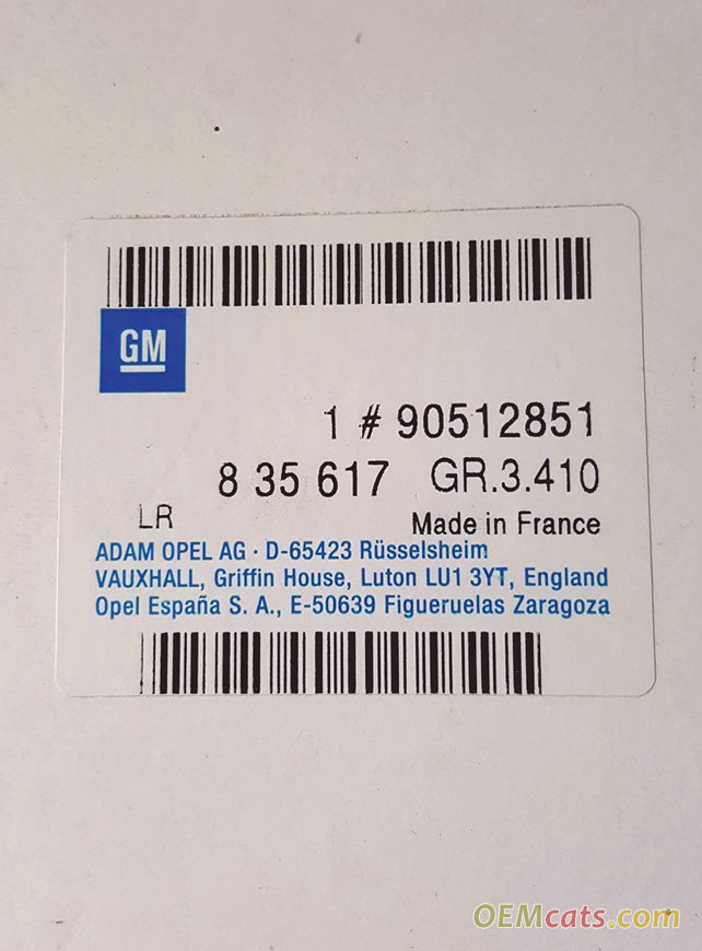 90512851, Element GM part