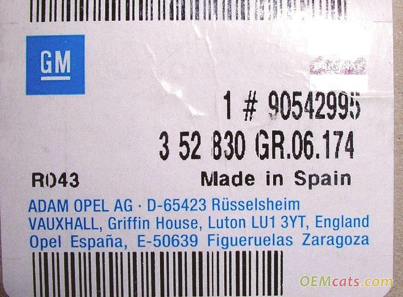 90542995, Stud kit GM part