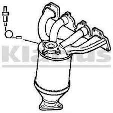 9158633, Manifold, exhaust, with catalytic converter, new exchange GM part