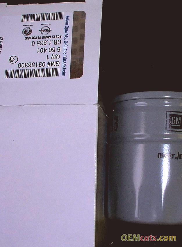 93156300, Element, oil filter GM part