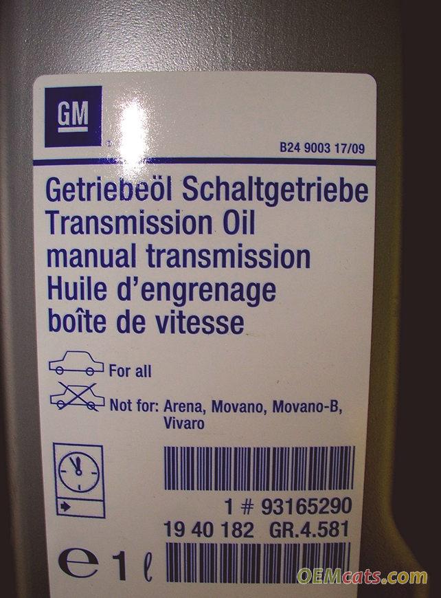 93165290, Oil, transmission, bot 402, 1 litre GM part