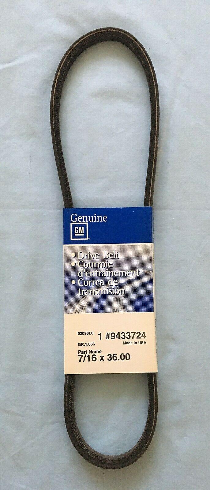 9433724, Belt, gas engine w/o serpentine belt, AC GM part