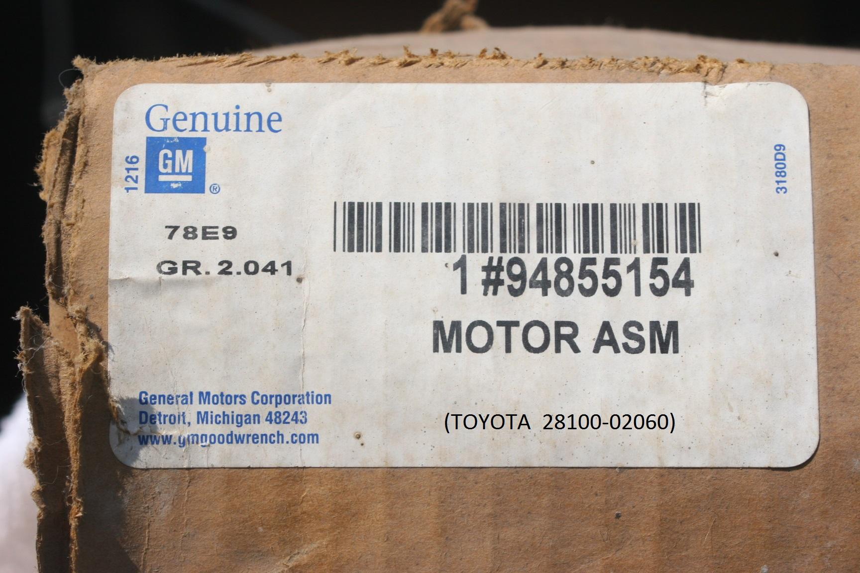 94855154, Starter GM part