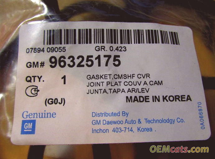 96325175, Gasket GM part
